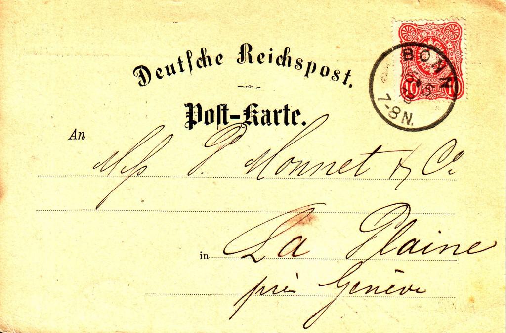 10 Pfennige Mi 33 Bonn Pk-Ausl 16-5-1878-a