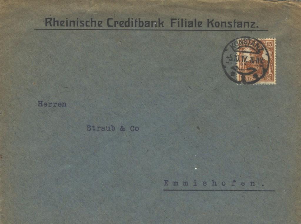 15 Pf Germania A 19€ Grenzverk CH Porto falsch_altepost2001-ebay
