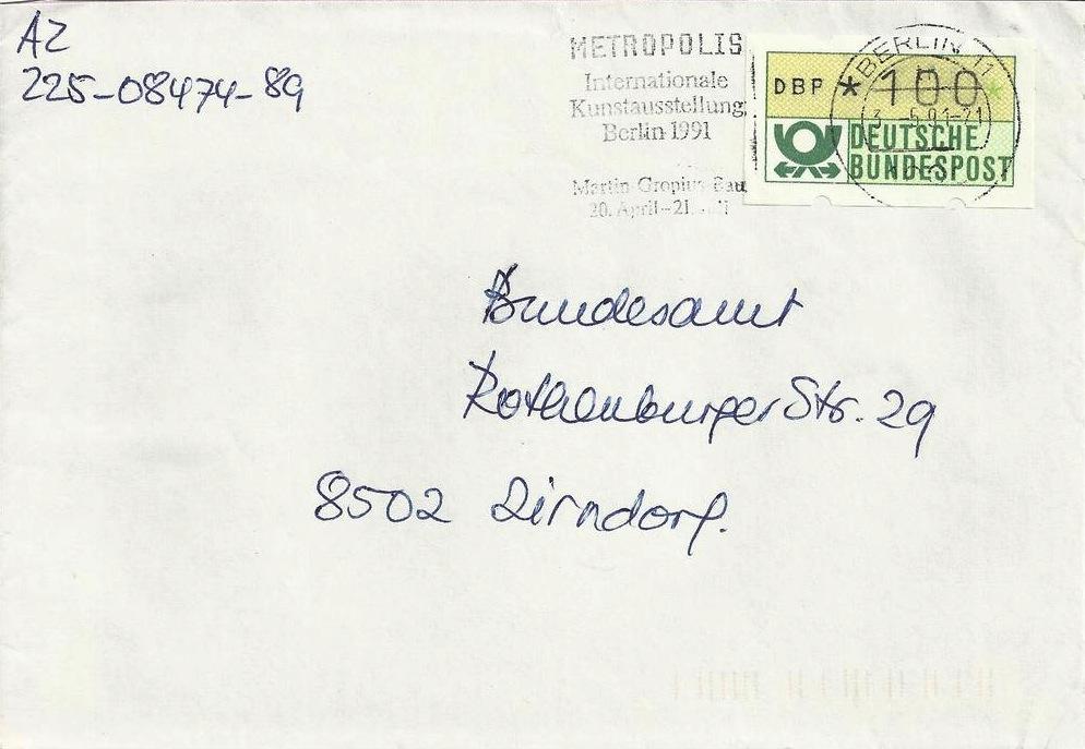 ATM 1 in Berlin 3.5.91