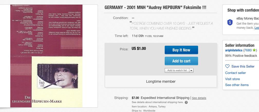 Hepburn-Fake aus Türkei Nov 18 _ebay USA