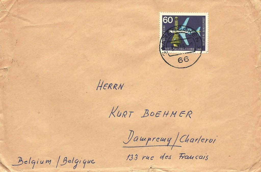 IVA 60 Pf Bf n Belgien 3.7.65 - korrekt