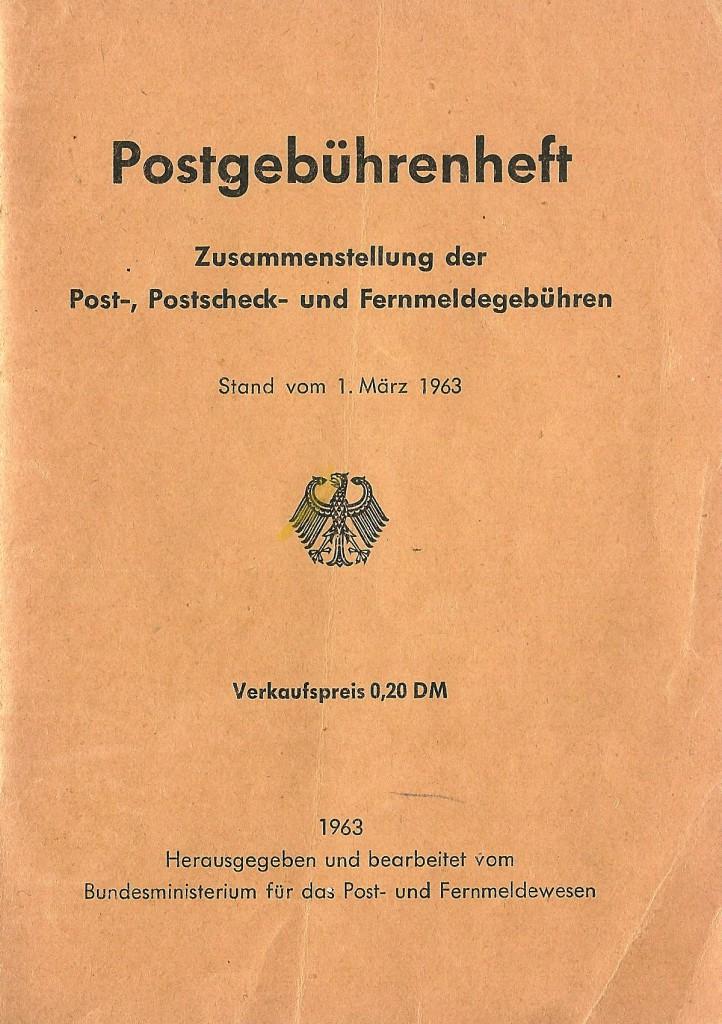 Postgebührenheft 1963