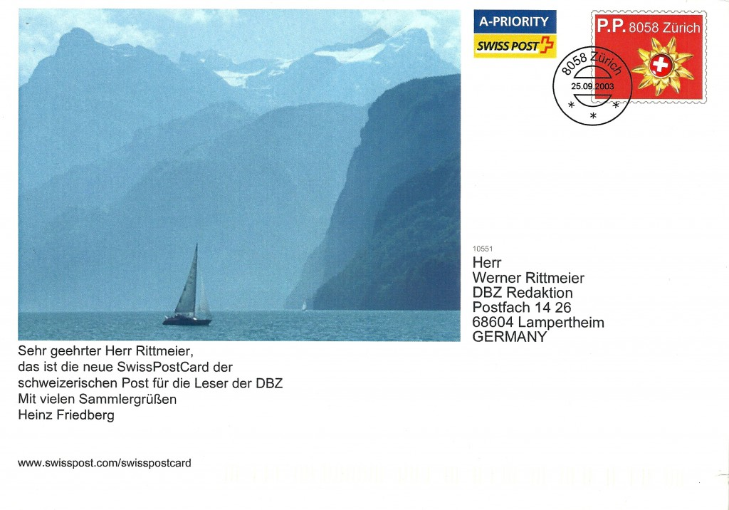SwissPostcard H Friedberg